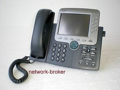 Cisco CP-7970G 7970 Unified IP Color Phone Farb Telefon   VoIP IP