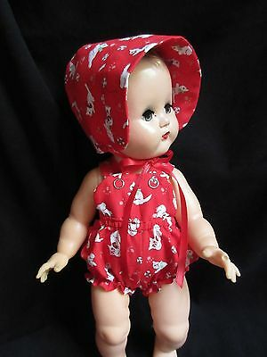 "2 Piece Sunsuit Romper For 14"" Vintage Ideal Betsy Wetsy Baby Doll"