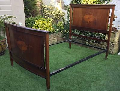 Antique Edwardian Double Bed { Mattress and Base Free }