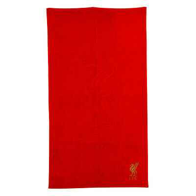 Liverpool Fc Embroidered Red Towel Bath Beach Gym Swim 100% Cotton Xmas Gift