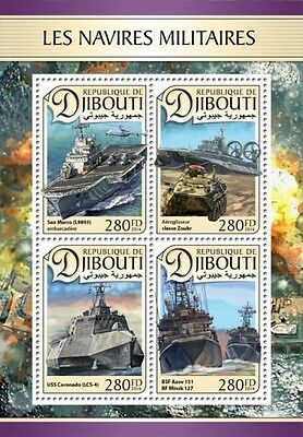 Z08 IMPERFORATED DJB16603a DJIBOUTI 2016 Military ships Helicopters MNH Mint