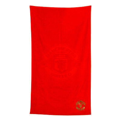 Manchester United Fc Embroidered Red Towel Bath Beach Gym Swim 100% Cotton Gift