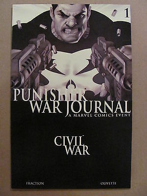 Punisher War Journal #1 Marvel 2007 Series Black & White Variant 9.6 Near Mint+