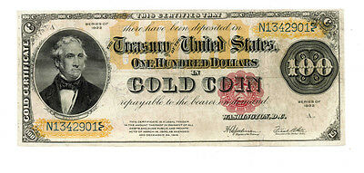 "1922 Series $100.00 Gold Certificate...the ""C"" Note"