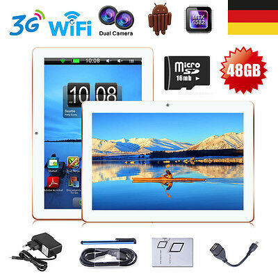 10.1''Zoll 16G Tablet PC Dual SIM/Camera Quad Core Android WIFI 3G Phone Call DE
