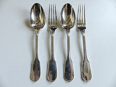 Cardeilhac Christofle Versailles Sterling Silver 950 2 Forks + 2 Spoons (Dinner)