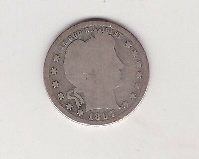 1897-S  Barber Quarter - Silver US Coin