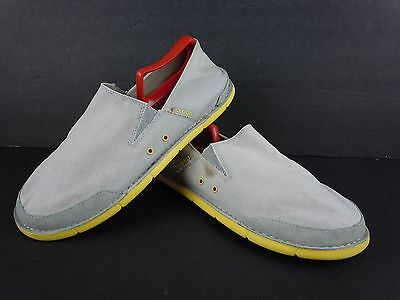 Mens Crocs Off White Canvas Slip On Loafers Fashion Sneakers Size 11 D