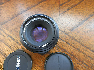 Quality Minolta MD 50mm 1:2 Prime Lens - #1543310