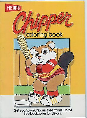 Herr's Potato Chips Chipper the Chipmunk Coloring Book 1987. Never used