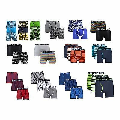 Mens Boxers Crosshatch Shorts 2PK And 3PK Trunks Underwear Gift  S-XXL