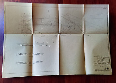 1913 Panama Canal Plan Map of Pacific Terminals Oil Berths