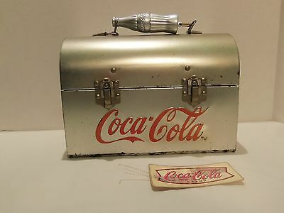 Coca-Cola Metal Lunch Box (With Metal Coke Bottle Handle) Very Rare