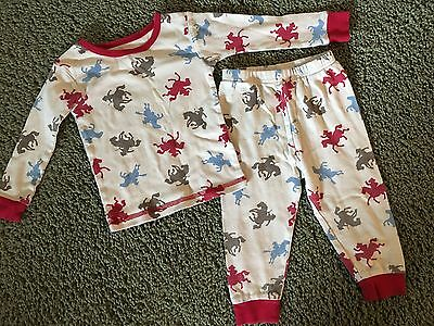 Carter's Just One Year Baby Boy Rodeo Pajamas Size 18 Months EUC