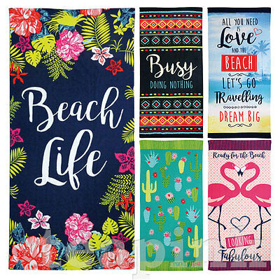 Large Beach Towel Bath Sports Swimming Travel Gym Camping Holiday Summer Towels