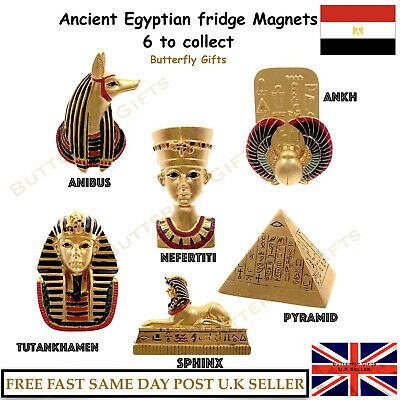 Egyptian Magnets Ancient Egypt Symbols Small Fridge Magnets 6 to Collect History