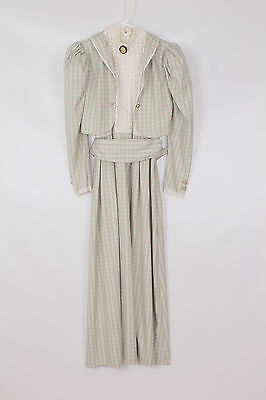 Womens Checked Victorian Lady Theatre Re-enactment Costume