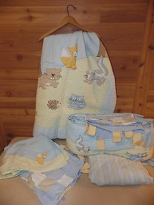 Baby Gap Woodland Creatures/Animals Nursery Crib Set; EUC Free Shipping!