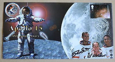 Apollo 15 30Th Anniversary Cover Signed By Astronauts Dave Scott & Al Worden