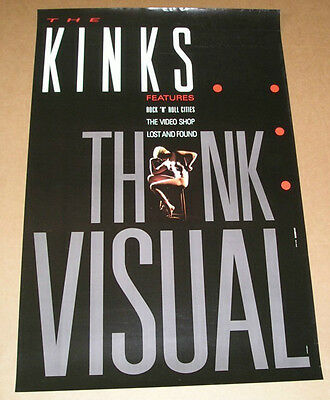 The Kinks Think Visual Promo Poster 24x36