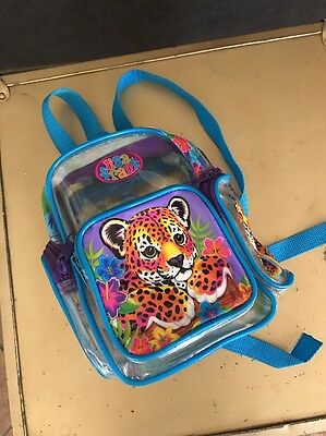 Vintage Small Lisa Frank Backpack Leopard Clear See