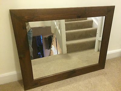 Lovely mirror with solid wood frame
