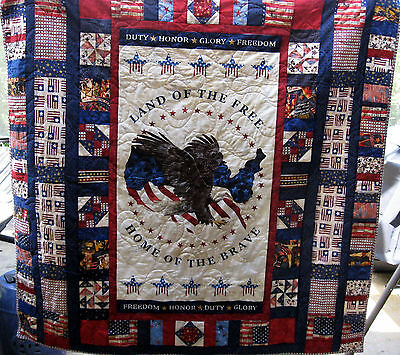 Land of the Free Quilt - handmade
