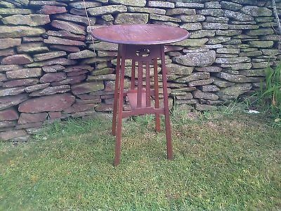 Arts and crafts circular table, plant stand