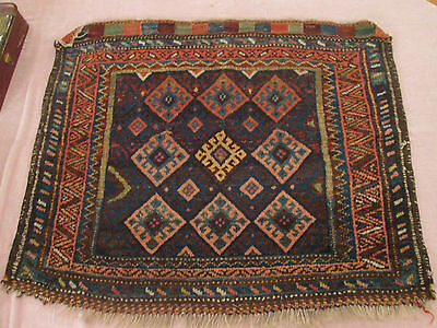 "Antique Kurdish Bagface Wool Rug 28"" x 35"" (2'4"" x 2'11"") DE2"