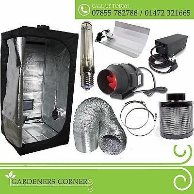 Hydroponics Complete Indoor Grow Tent Kit Filter Fan Set 250w 400w 600w watt HPS