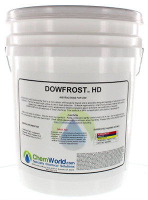 Dowfrost HD Propylene Glycol - Yellow Color - 5 Gallons