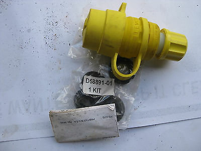 NEW OLD STOCK Hubble  HBL2311SW   Shrouded Watertight Twist-Lock Plug 125V, 20A