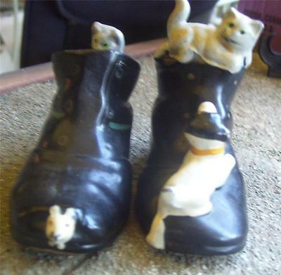 Cute Pair Of Boots With Kittens, Cats & Dogs