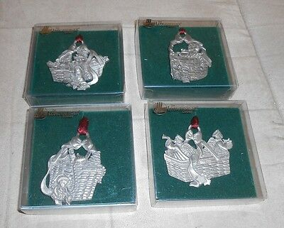 Lot of 4 Longaberger Christmas Collection Basket Ornaments - Brand NEW in Box