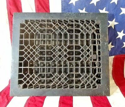 Cast Iron Floor Register Vent Heating Grate or Plate  Tuttle&Bailey1885