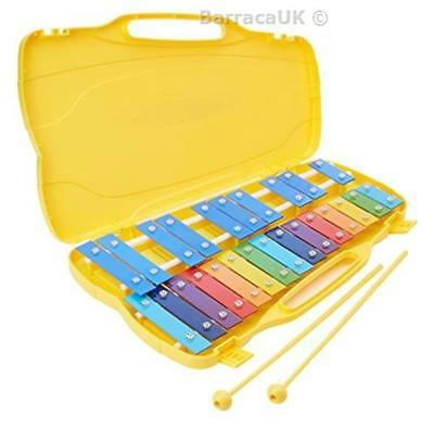 NEW Performance Percussion G5-G7 25 Note Glockenspiel with Coloured Keys