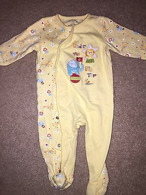 First Moments Unisex Baby Footed Sleeper PJs 6 - 9 Months Animals