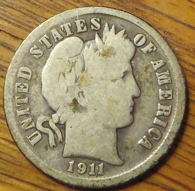 1911 10C Barber Dime - very nice coin (9369)