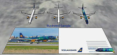 IcelandAir Unofficial Boeing 757 Postcard Vol. 2 Hekla Aurora LIMITED EDITION