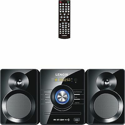Mini Hi Fi Stereo System Bluetooth DVD Player CD MP3  USB Input Aux In FM Radio