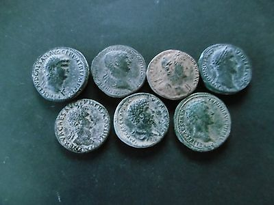 Very nice lot of 7 high empire sestertius