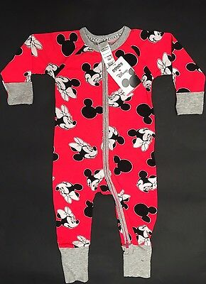 BONDS Baby Girl Boy DISNEY WONDERSUIT ZIPPY Sleepsuit MICKEY Size 0 6-12 Month