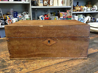 BRT Vintage Antique C.1900's to 1920's Wooden Inlaid Trinkets Jewellery Box