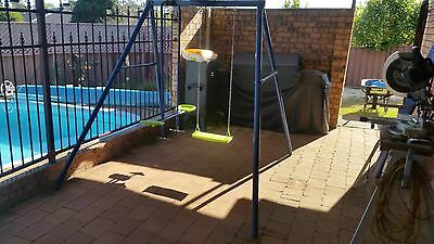 Hills Playtime Swing Set - 2 Bay - Blue & Green  - New/used Combo