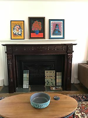 Solid wood Arts & Crafts fireplace mantel- never used, minor imperfections