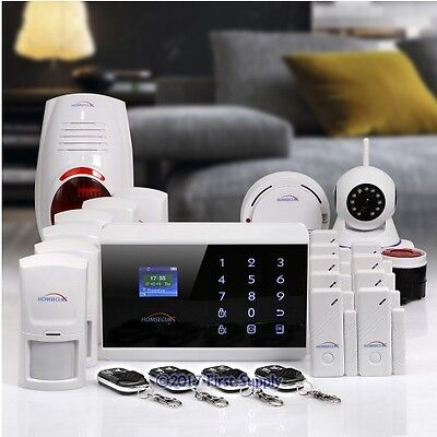 HOMSECUR Wireless 3G/Phone Line Home Security Alarm System +Wireless IP Camera