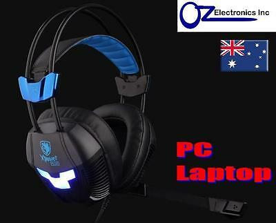 SADES SA-706s PC Xpower Plus Gaming Headset  Noise Reduction Mic Chat BRAND NEW