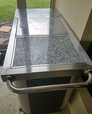 BBQ Stand, Benchtop with Hutch for stove. Stainless Steel
