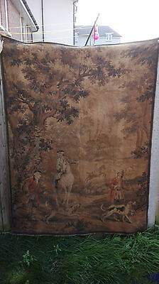 """Large Vintage (French?) Wall Hanging Tapestry (68"""" x 51"""")"""