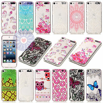 For iPod Touch 5 /6th Gen Cute Printed Design Soft Plastic Gel Back Case Cover